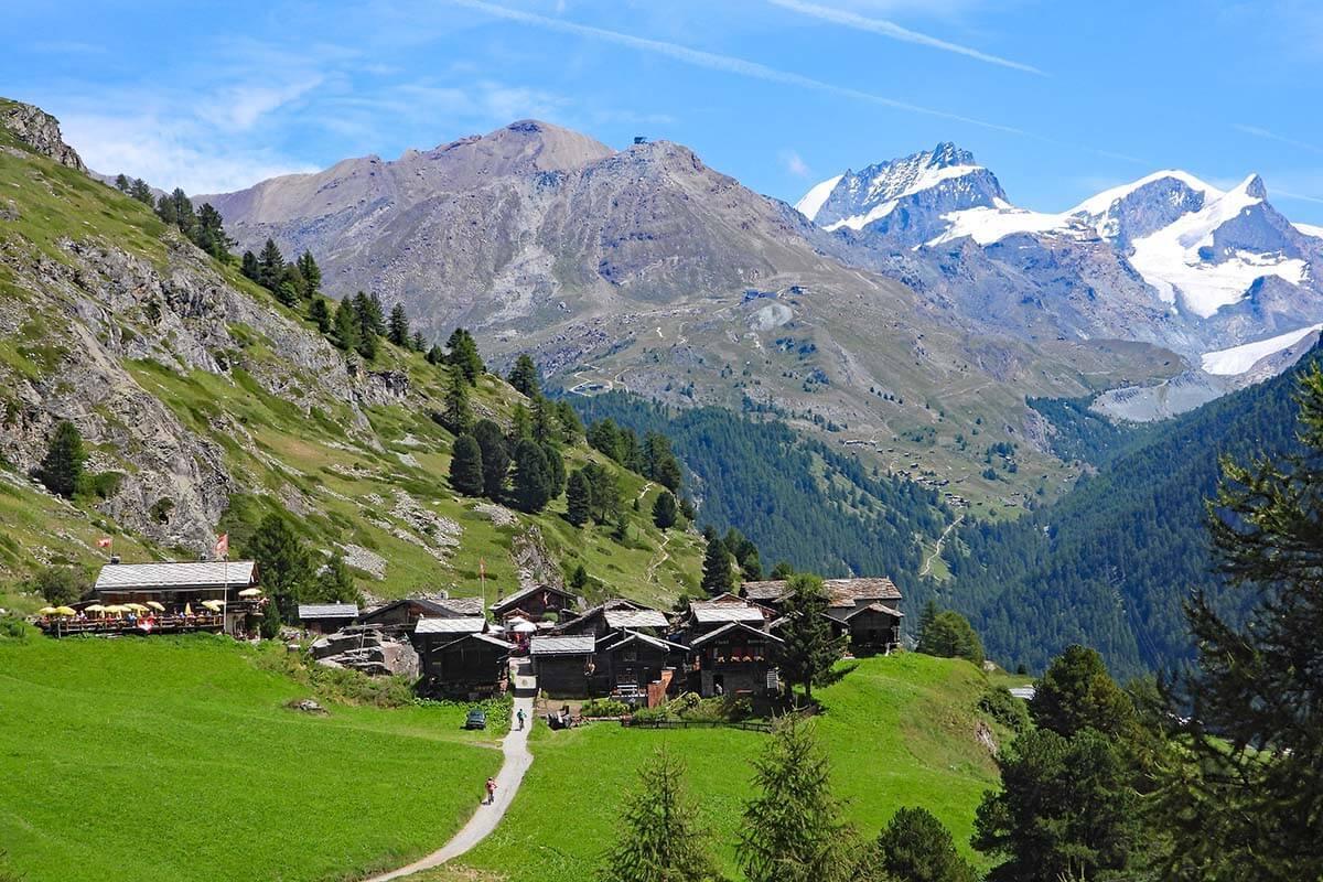 Zmutt village near Zermatt in Switzerland