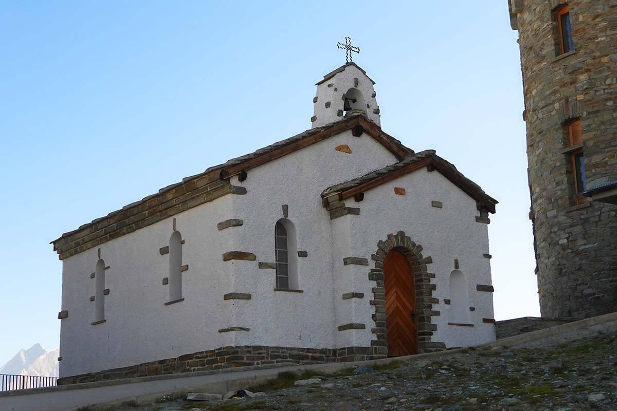 Bernhard van Aosta Chapel at Gornergrat in Switzerland