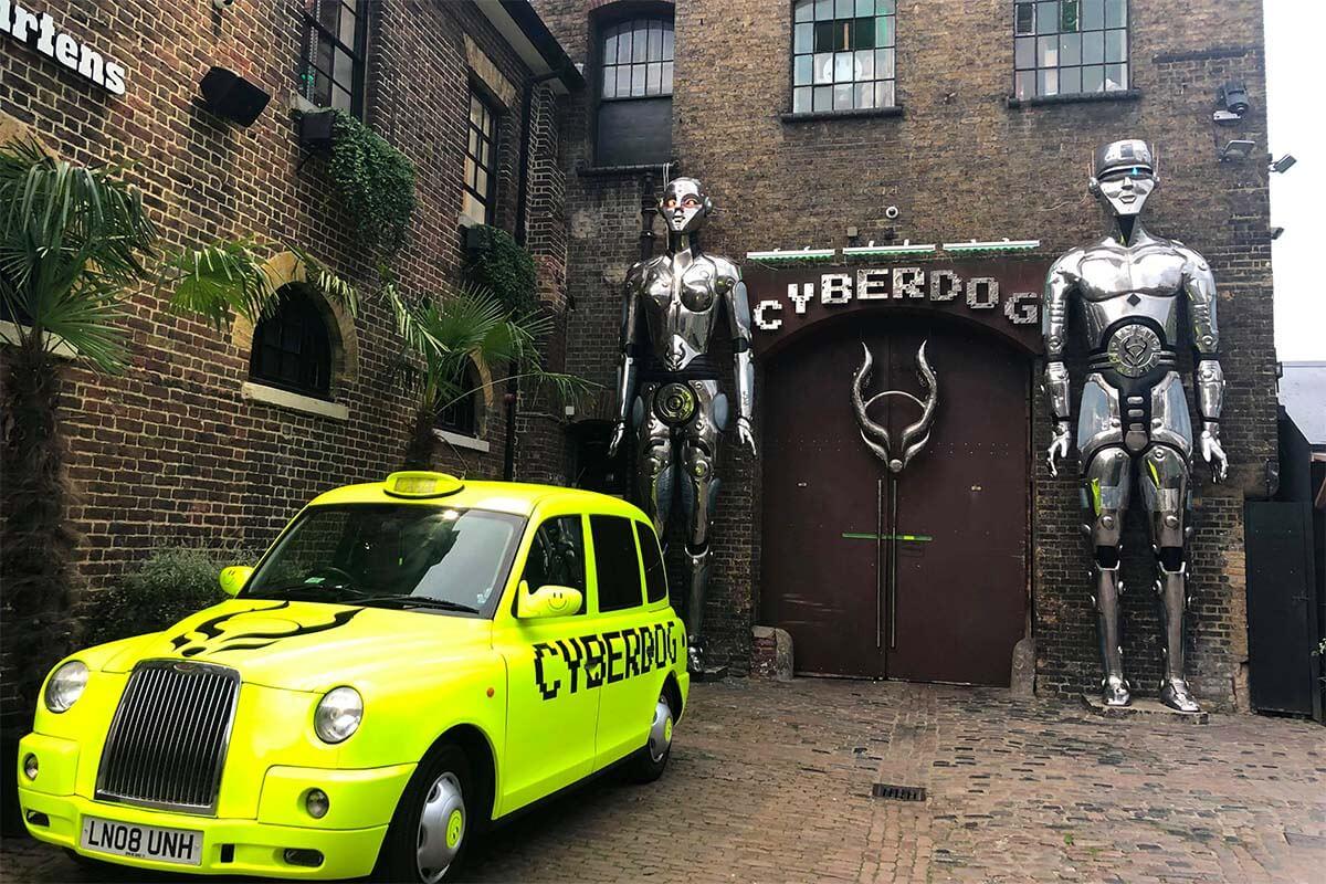 Cyberdog store in Camden Market in London
