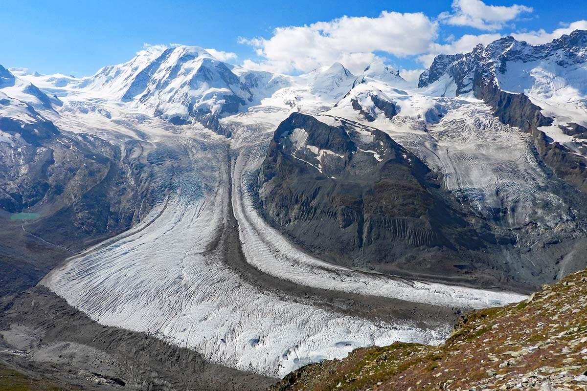 Gorner Glacier at Gornergrat in Switzerland