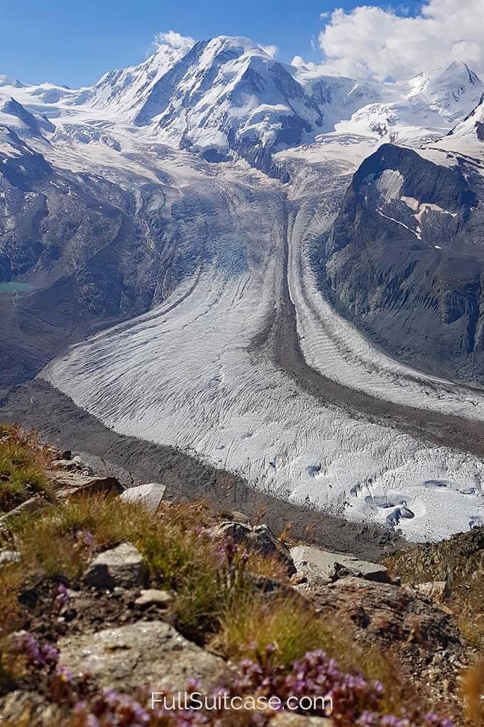 Gorner Glacier in Switzerland