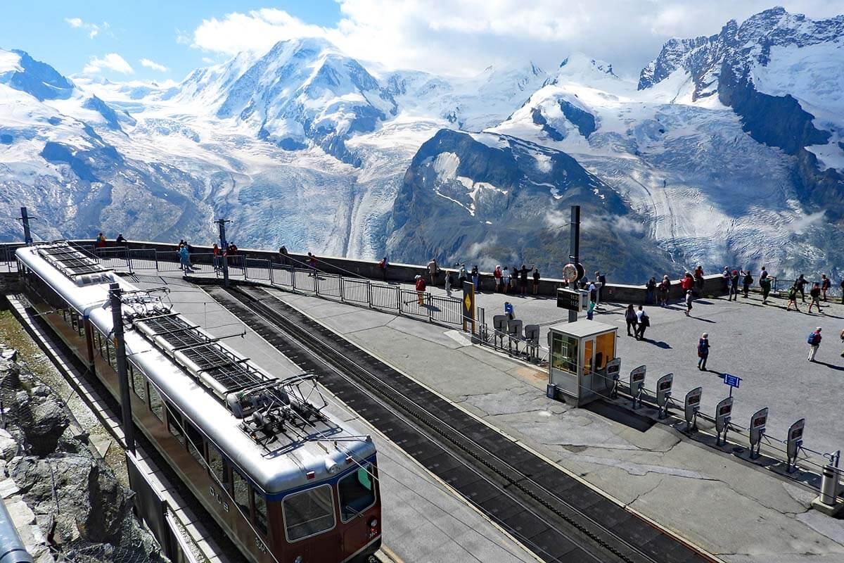 Gornergrat Railway Station at Gorner Glacier