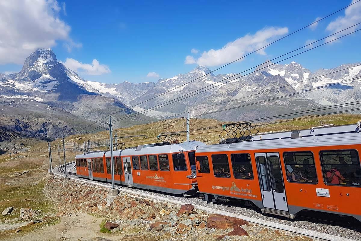 Gornergrat Railway in Switzerland