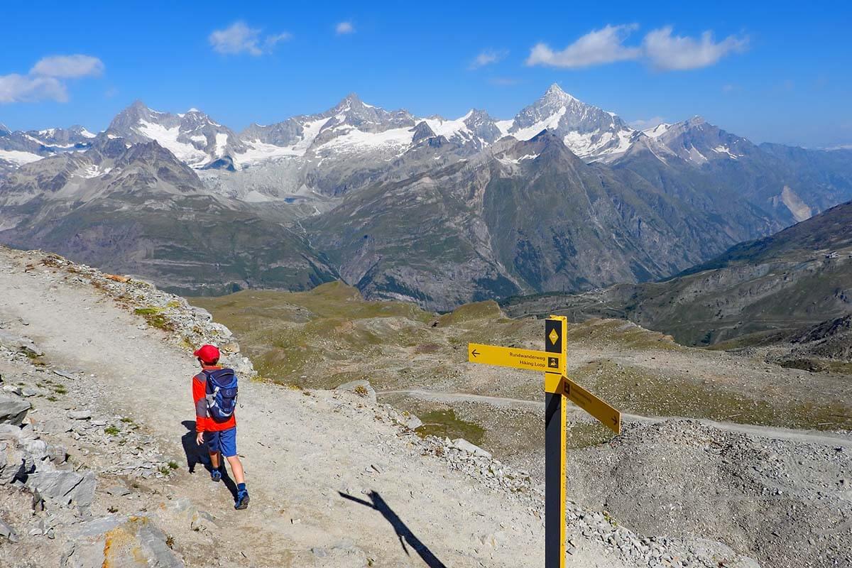 Hiking 360° Scenic Loop at Gornergrat