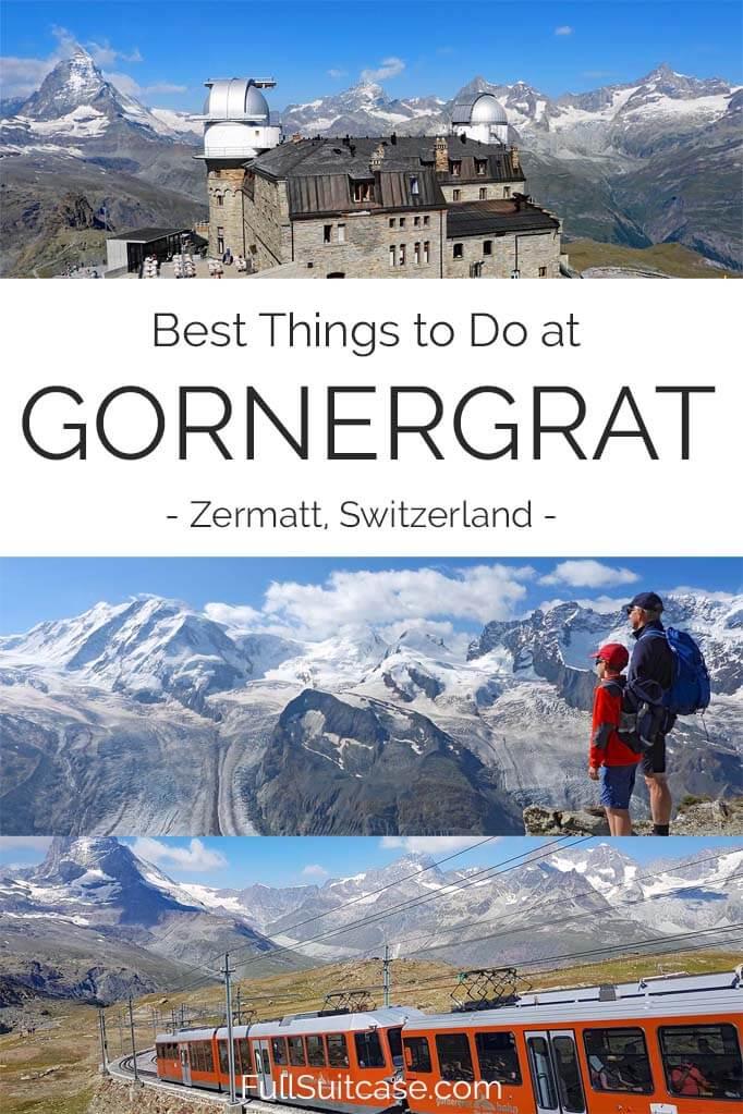 Things to do in Gornergrat near Zermatt, Switzerland