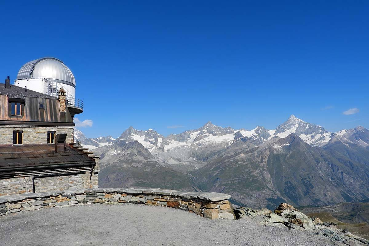 Views from one of the Gornergrat viewing platforms