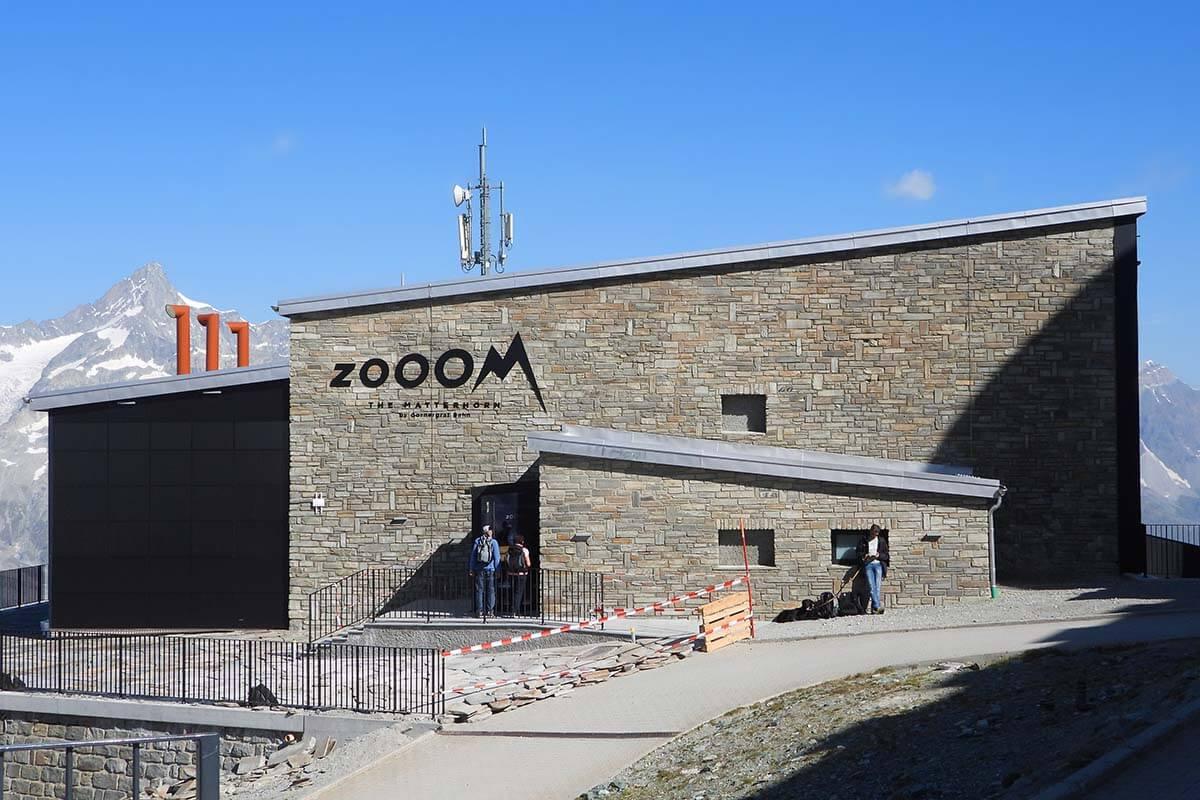 Zooom the Matterhorn building at Gornergrat